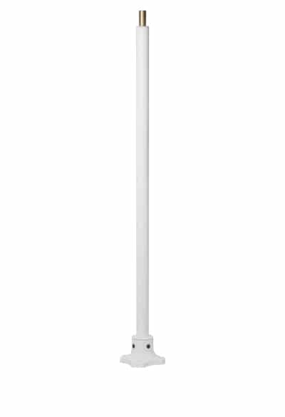Floor mount light pole