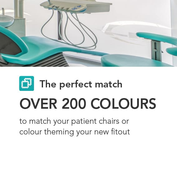 The perfect match - choose from over 200 vinyl colours for your dental stools